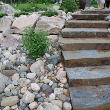 New York Bluestone Thermal Snapped Wild End Steps