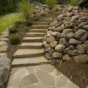 New York Bluestone Full Color Random Natural Cleft Steps