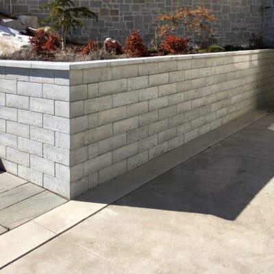 Rochester Travetine Garden Wall