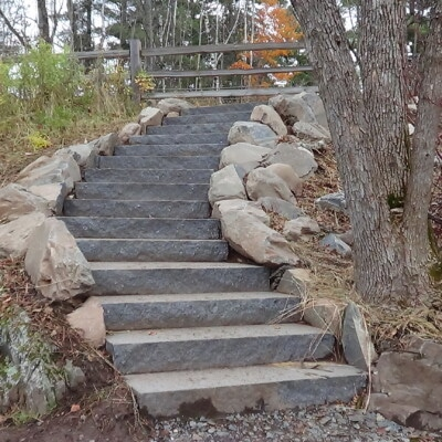 Mesabi Black Granite Steps