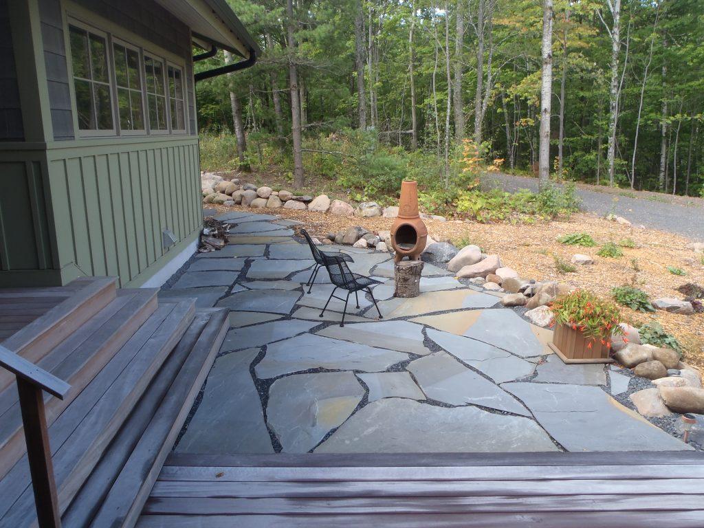 Bluestone flagstone patio